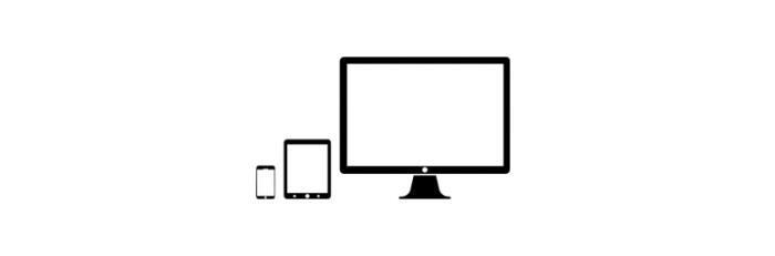 mobile tablet laptop