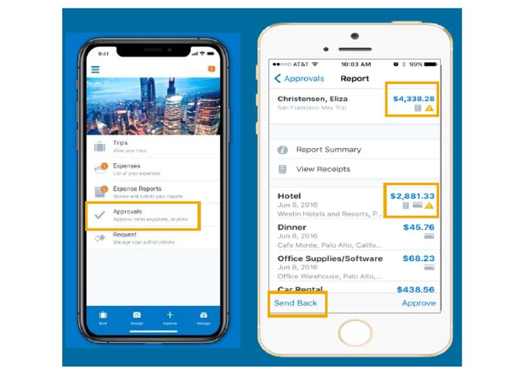 SAP Concur mobile app approval