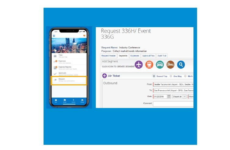 SAP Concur mobile app request